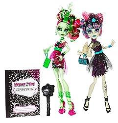 Mattel Monster High BJR17 - Zombie Shake Venus McFlytrap und Rochelle Goyle, Doppelpack bei Amazon