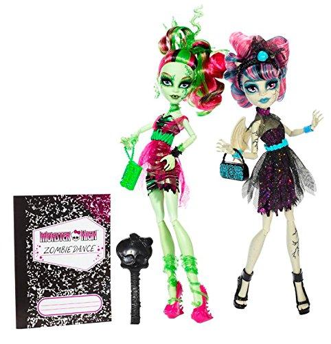 Mattel Monster High BJR17 - Zombie Shake Venus McFlytrap und Rochelle Goyle, Doppelpack