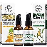 Beauty Foundry Clarifying Tea Tree Facial Oil & Vitamin C Turmeric Serum Duo