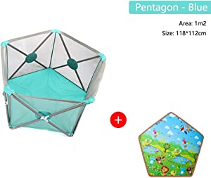 Baby Playpen Fence Foldable Portable Baby Products Breathable Bite Safety Kids Activity Center For Indoor Outdoor Infant Toddlers Pet Supplies  Color Package