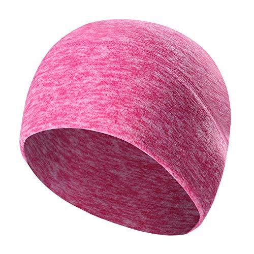 Gisdanchz Mütze Damen Mützen Herren Fahrradhelm Beanie Mütze Cap Damen Motorradhelm Skimütze Fahrrad Mütze Damen Mens Ski Cycling Helmet Liner Women Pink
