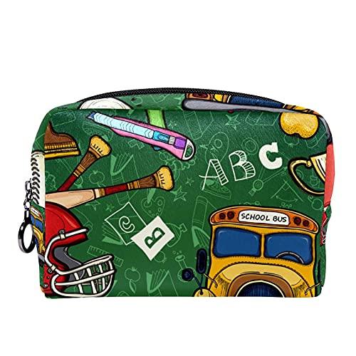 Bolsa de cosméticos para Mujeres Educación Infantil Bolsas de Maquillaje espaciosas Neceser de Viaje Organizador de Accesorios