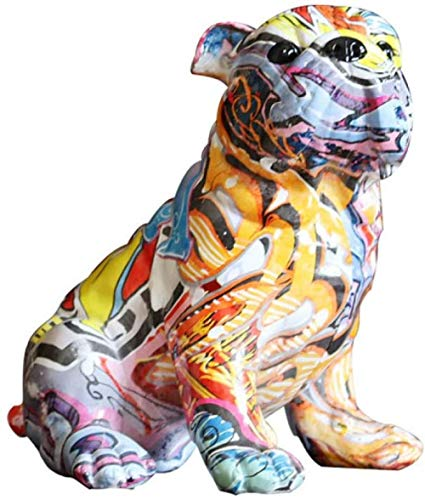 JLXQL statue ornamentCartoon dog statue sculpture jewelry indoor resin craft animal statue decoration