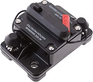 Joyfulstore- 50 Amp Manual Reset Circuit Breaker Switch 12V-42V Car Suv for Marine Boat High Tech Water Resistant Cap