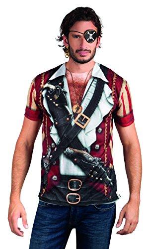 Boland- Déguisement-T-Shirt Photoréalisme-Pirate, 10101240, Taille L