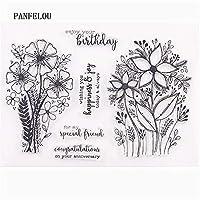 ロマンチックな花透明なクリアシリコーンスタンプ/シールDIYスクラップブッキング/フォトアルバム装飾的なクリアスタンプシート