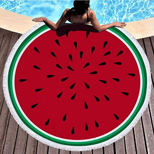 GermYan Donut Beach Toalla Redonda 150Cm Toallas de Microfibra de sandía para niñas Mujeres Esteras de Yoga Bloqueador Solar