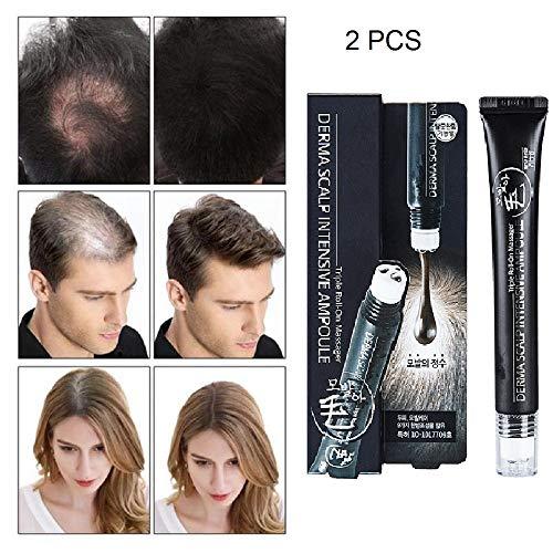 Haargroei Vloeistof, Intens Snel Haargroei Serum, Triple Roll Massager Anti Haaruitval Serum voor het bevorderen van de haargroei en het gezond houden van het haar (2PCS)
