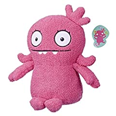 Stuffed toy with a style all her own: inspired by the heroic dreamer in the epic animated movie, Ugly dolls, This Moxy figure is a soft, squishy toy for kids to snuggle. Yours truly Moxy plush doll: Moxy holds an envelope made specially for kids to o...