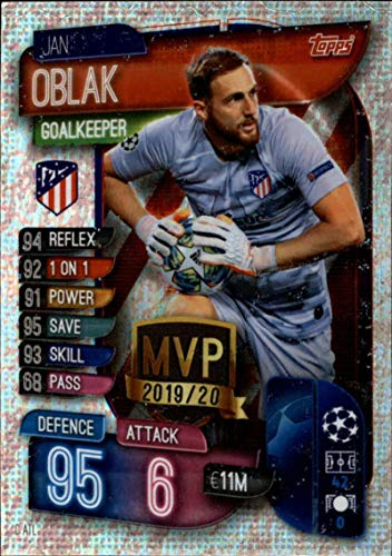 2019-20 Topps UEFA Champions League Match Attax Club MVPs #C ATL Jan Oblak CLUB ATLETICO DE MADRID Official Futbol Soccer Trading Card Game Playing Card