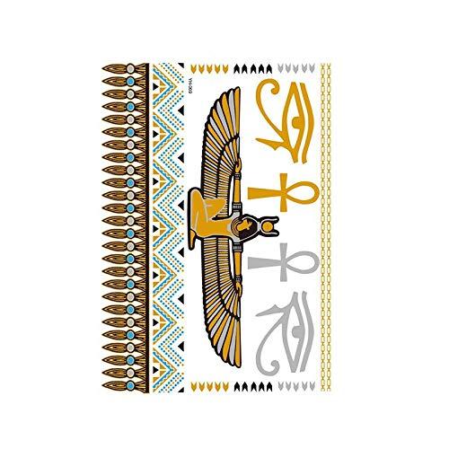 Autocollants de tatouage bronzage rétro autocollants de tatouage imperméables ensemble autocollants d'impression de couleur argent chaud-YH-069_148 * 210MM
