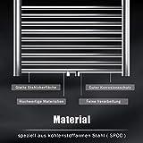SONNI Handtuchheizkörper Handtuchtrockner Heizkörper Bad Mittelanschluss Handtuchwärmer Badheizkörper Weiß Gerade 40 * 120cm - 2