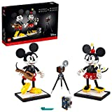 LEGO Disney Mickey Mouse & Minnie Mouse Buildable Characters (43179), Classic-Style Mickey Mouse Collectible Adult Building Kit, New 2021 (1,739 Pieces)