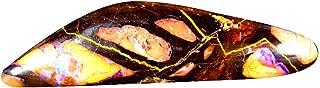 6.65 ct Fancy Cabochon Shape (27 x 7 mm) Play of Colors Australian Koroit Boulder Opal Natural Loose Gemstone