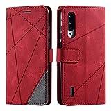 Xiaomi MI 9 Lite Case, SONWO Premium Leather Flip Wallet