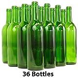 Home Brew Ohio 6 gallon Bottle Set: green Claret/Bordeaux (36 Bottles)