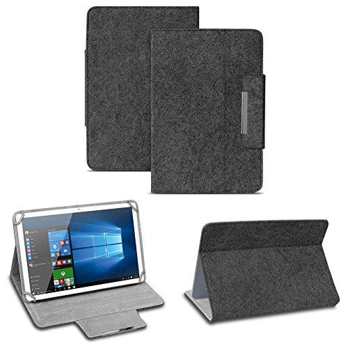 NAUC Filz Hülle für XIDO Z120 Z110 X111 X110 Z90 Tablet umweltfreundlichem Filz praktischer Standfunktion Schutztasche Stand Tasche Cover Case, Farben:Dunkel Grau