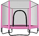 Mopoq Kinder Mini-Trampolin, Trampolin mit einem Sicherheitsschild, verzinkter Stahl - Ideal Innen- und Außen Garten Trampolin for Kinder-Geburtstags-Geschenke