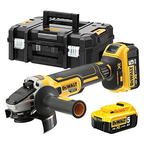 DeWalt DCG405P2-QW Meuleuse XR 18V 5Ah Li-Ion Brushless - 125mm - 2 batteries - coffret TSTAK