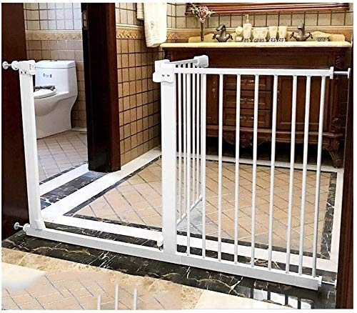 Gwendolyn Stair gates Metal Adjustable Baby Pet Safety Gate Stair Gate Auto-Close with Pressure Mount Expandable Stands 78cm tall The width can be selected from 61 to 232cm