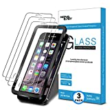 Novaeast Screen Protector for iPhone 8 Plus iPhone 7 Plus iPhone 6S Plus iPhone 6 Plus Tempered Glass Screen Protector 5.5-Inch with Easy Install Frame, 3-Pack