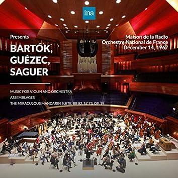 INA Presents: Bartók, Guézec, Saguer by Orchestre National de France at the Maison de la Radio (Recorded 14th December 1967)