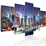 B&D XXL murando Impression sur Toile intissee 200x100 cm 5 Parties Tableau Tableaux Decoration Murale Photo...