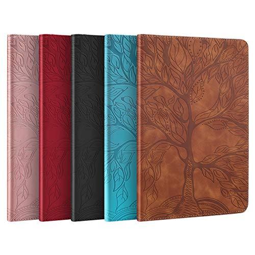 AsWant Hüll für Lenovo Tab M10 Plus Lebensbaum Design PU Leder Case Brieftasche Kartensteckplatz Folio Bookstyle Tablet Schutzhülle mit Stifthalter für Lenovo Tab M10 Plus FHD 10,3 Zoll 2020 Roségold