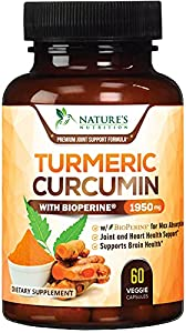 Turmeric Curcumin with Bioperine: Our premium T3 Turmeric Curcumin Complex 1950mg, with standardized 95% Curcuminoids and 15mg Bioperine (Black Pepper) for best absorption Effective Ingredients: Turmeric is arguably one of the most powerful herbs on ...