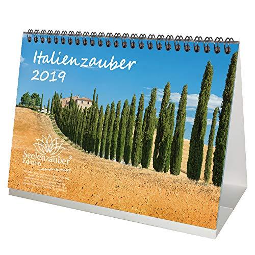Italienzauber · DIN A5 · Premium Tischkalender/Kalender 2019 · Italien · Toskana · Adria · Gardasee · Urlaub · Meer · Edition Seelenzauber