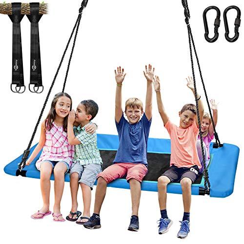 Trekassy - Columpio gigante de 59.8in para niños y adultos, resistente al agua, con marco de acero duradero y 2 correas para colgar