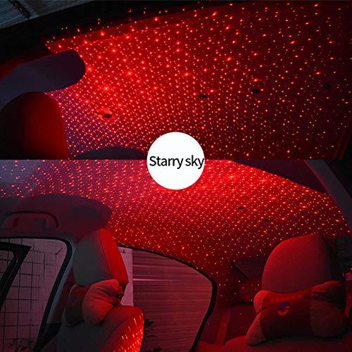 Zooarts LED Auto Atmosphäre Lampe Innenraum Sterne Licht USB Fernbedienung Romantische Dekoration (Starry sky)