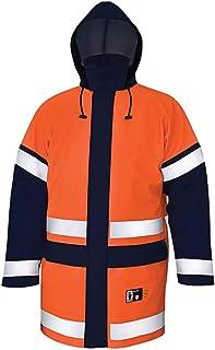 Pros AJ-KWAT500_PG56 antistatische jas, oranje-donkerblauw, 56 maat