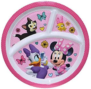 Minnie Mouse & Daisy Divided Plate Melamine