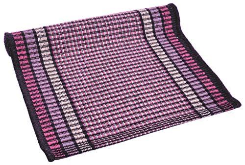 Senso Tappeto Cotone Lavabile Bagno Cucina 50x80 Semplice e Pratico Vari Colori Lavabile in Lavatrice 30° (Violet)
