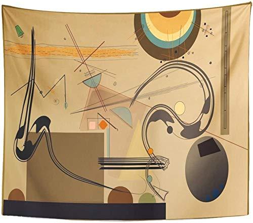 Composición de formas abstractas de colores Escritorio sobre tapiz marrón claro Decoración para el hogar Colgante de pared para sala de estar Dormitorio Dormitorio 150x200cm