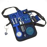 AsaTechmed Nurse Pro Pack Pocket Organizer Pouch Hip Bag Medical Organizer Belt | Utility Medical Gear Kit | Antimicrobial, HHA, EMT, CNA, NP, PA, Student, Nurse Kit - TOOLS INCLUDED (Blue)