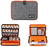 Euxial Travel Gadget Organizer Case Portable Zippered Pouch For All Small Gadgets Tablet