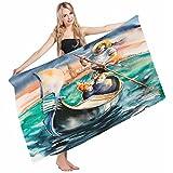 Mugod Beach Towel Bath Towels Venice Love in Venice Couple Singing Gondolier Italy Landmark Romantic Yoga/Golf/Swim/Hair/Hand Towel for Men Women Girl Kids Baby 64x32 Inch