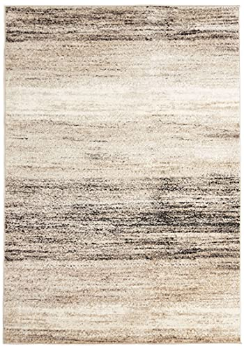 Carpeto Rugs Abstraktes Modern Designer Teppich - Kurzflor - Weich Teppich für Wohnzimmer, Schlafzimmer, Esszimmer - ÖKO-TEX Wohnzimmerteppich - Teppiche - Beige 2 - 200 x 300 cm