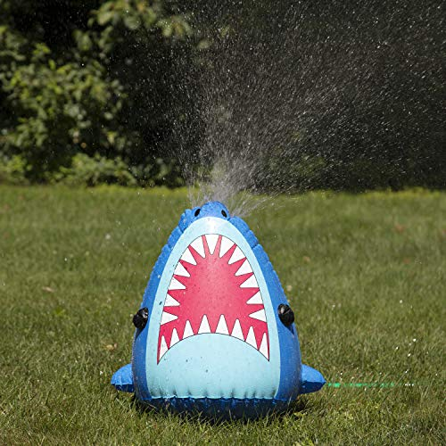 """Bling2o Inflatable Shark Sprinkler Toy - Outdoor Water Spray Sprinkler (20"""" Tall) - Connects to Standard Garden Hoses"""