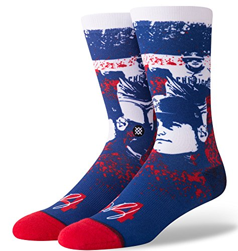 Stance M548C18RIZ Men's Rizzo Splatter Sock, Blue - Large