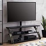 Whalen Payton Brown Charcoal 3-in-1 Flat Panel TV Stand for TVs up to 65' (Charcoal)