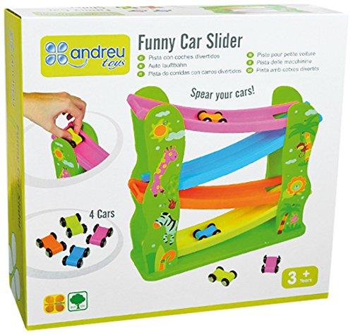 Andreu Toys 16069 Funny Car Slider, Multicolore, 29 x 29,5 x 10 cm