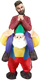 Rosymity Inflatable Santa Claus Back Man Xmas Santa Claus Costume,Made by PU-Coated Polyester Fabric/with 4 AA Batteries Using for Performances Or T-Stage Catwalks