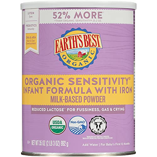 Earth's Best Organic Low Lactose Sensitivity...