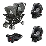 Graco DuoGlider Click Connect Double Stroller + Car Seats & Base...