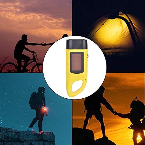 Weikeya Linterna solar con manivela de mano, 40 mAh, plástico ABS, 1 unidad, batería de níquel-metal hidruro para escalada y camping