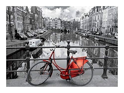 Qilo Blanco y Negro Rompecabezas for Adultos - 500-5000 Piezas de la Bici de Londres Puzzle de Madera - Decoración Familia Educación de Bricolaje Juguetes (Size : 4000pieces )