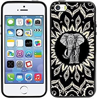 Matcase For iPhone 5 Case iPhone 5S Case iPhone SE Case - Mandala Elephant Hard Clear Transparent Anti Scratch Resistance With Full Protection TPU Bumper Designer Case